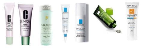 Alguns produtinhos que ajudam a controlar a oleosidade e mininizar o aspectos dos poros dilatados.