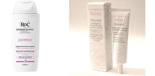 Loção de limpeza antiinflamatória e tratamento anti-acne completam a rotina para pele OSNT de noite.